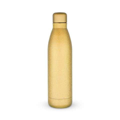 Comet Gold Glitter Water Bottle