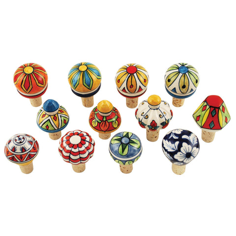 Country Cottage Assorted Ceramic Bottle Stoppers Set of 3