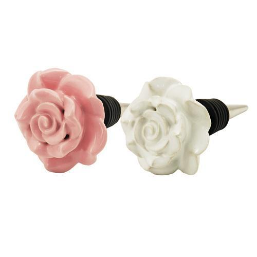 Country Cottage Ceramic Rose Stoppers-TWINE-Peccadilly