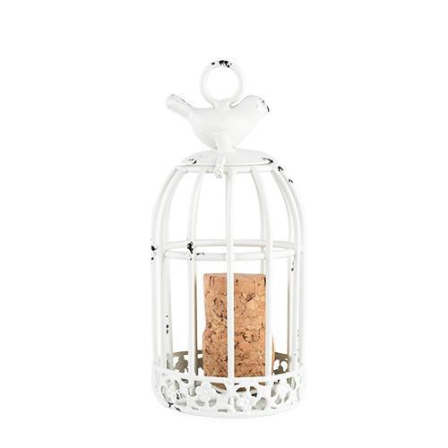 Country Cottage Keepsake Bird Cage Cork Holder Ornament-Decor - Cork Holders-TWINE-Peccadilly
