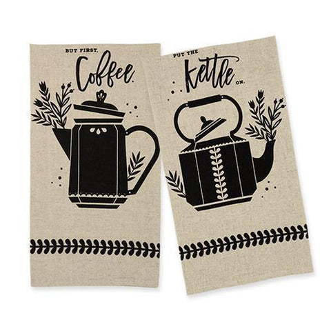 Country Cottage Linen Tea Towel Set