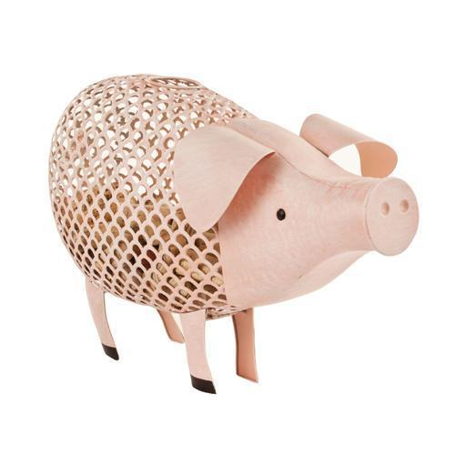 Country Cottage Pig Cork Holder-Decor - Cork Holders-TWINE-Peccadilly