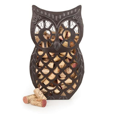 Country Cottage Wise Owl Cork Collector
