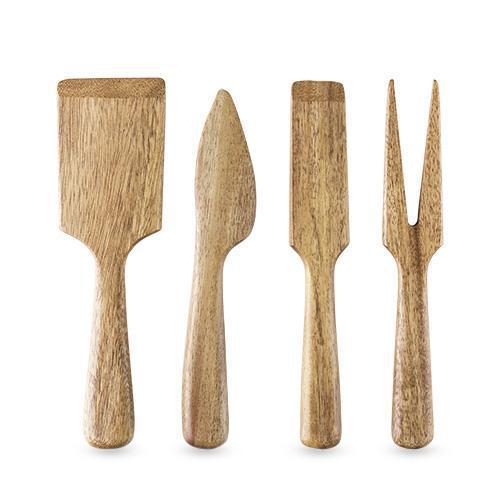 Country Home Acacia Wood Cheese Set-Home - Entertaining - Cheese Knives Sets-TWINE-Peccadilly