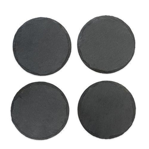 Country Home Circle Slate Coasters