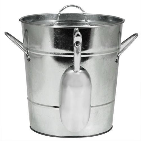 Country Home Galvanized Ice Bucket