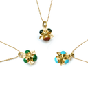 Cutchins Genuine Gemstone 24kt Gold Necklaces-women - jewelry - necklaces-ADDISON WEEKS-Malachite-Peccadilly