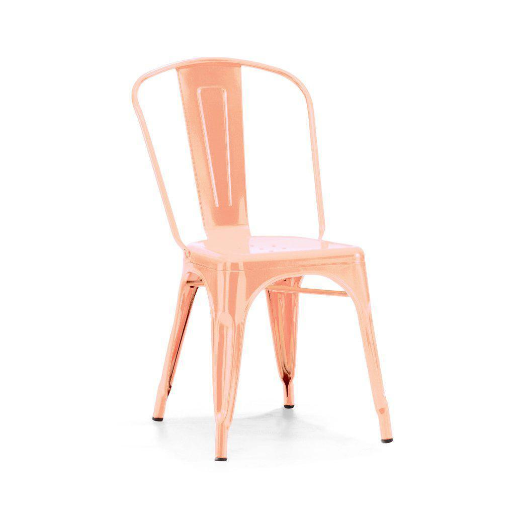 Dreux Metallic Side Chair (Set of 4)-Home - Furniture - Lounge Chairs + Side Chairs-DESIGN LAB MN-Light Rose Gold-Peccadilly