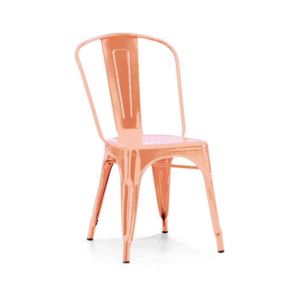 Dreux Metallic Side Chair (Set of 4)-Home - Furniture - Lounge Chairs + Side Chairs-DESIGN LAB MN-Rose Gold-Peccadilly