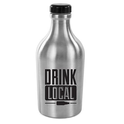 Drink Local 64 oz. Stainless Steel Beer Growler