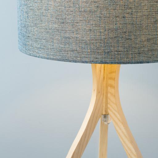 Duxbury 28.74 x 15.75 x 15.75 Natural Wood Table Lamp-Home - Lighting - Table Lamps-SURYA-Blue-Peccadilly