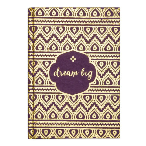 Metallic Dream Big Message  Fair Trade Journal