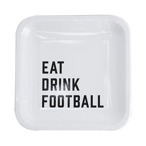 Eat Drink Football Appetizer Plates Set