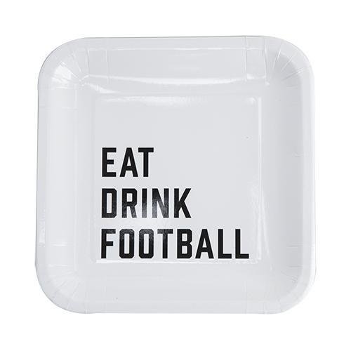 Eat Drink Football Appetizer Plates Set-Home - Entertaining - Appetizer Plates-CAKEWALK-Peccadilly