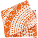 Ekena 50 x 60 Knitted Pure Cotton Throw Bohemian Blanket-Home - Accessories - Throw Blankets-SURYA-Orange-Peccadilly