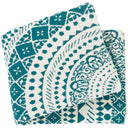 Ekena 50 x 60 Knitted Pure Cotton Throw Bohemian Blanket-Home - Accessories - Throw Blankets-SURYA-Teal-Peccadilly