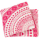 Ekena 50 x 60 Knitted Pure Cotton Throw Bohemian Blanket-Home - Accessories - Throw Blankets-SURYA-Pink-Peccadilly