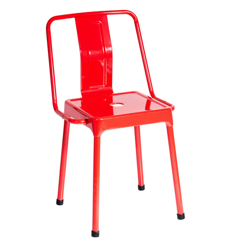 Energy Industrial Dining/Accent Chair in Red - Set of 2