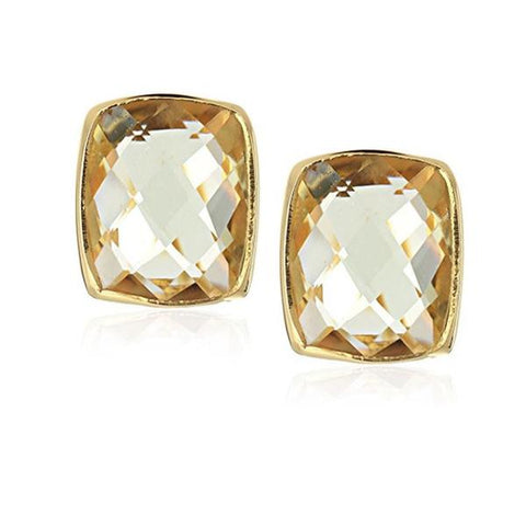 24k Gold Whitten Lemon Topaz Earrings