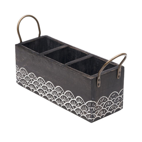 Wood Vasant Flatware Caddy Fair Trade
