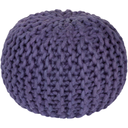 Fargo 20 x 20 x 14 Chunky Knit Pouf-Home - Accessories - Poufs + Floor Cushions-SURYA-Purple-Peccadilly