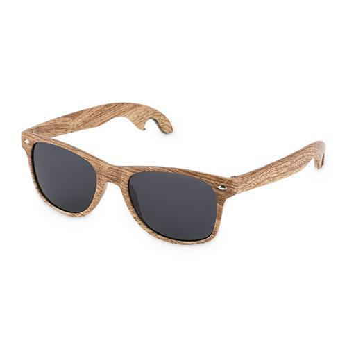 Faux Wood Bottle Opener Sunglasses-Home - Entertaining - Bottle Openers-FOSTER AND RYE-Peccadilly