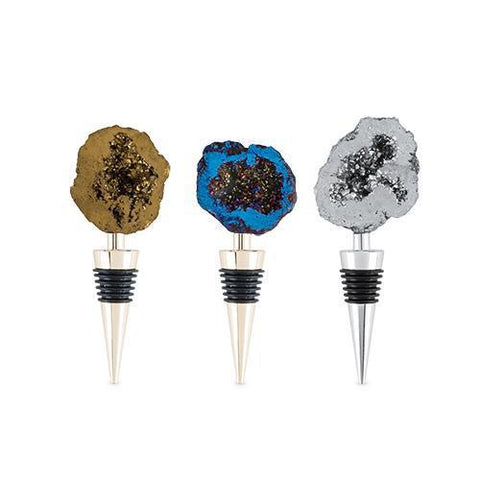 Fleck Assorted Geode Stoppers Set of 3