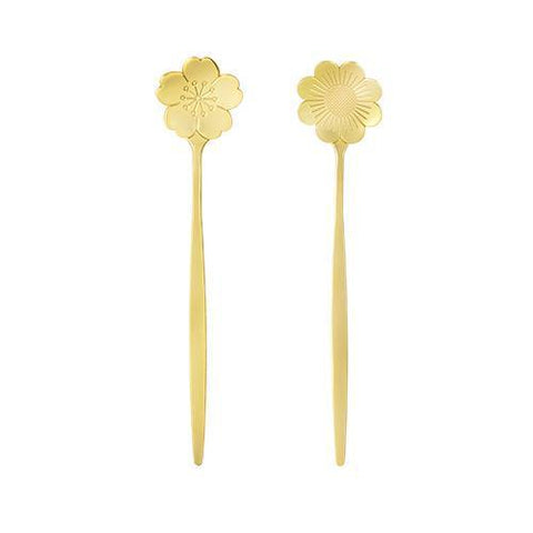 Floral Gold Tea Spoons Set