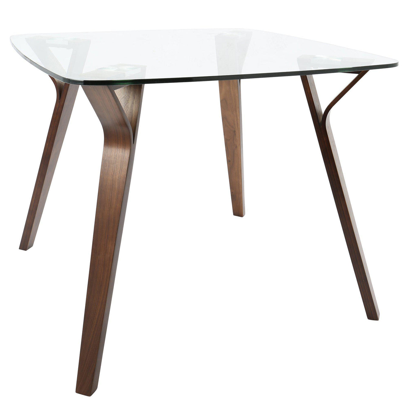 Folia Mid-Century Modern Dining Table in Walnut and Glass-LUMISOURCE-Peccadilly
