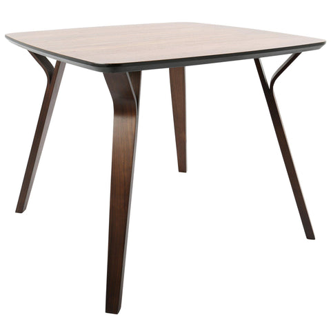 Folia Mid-Century Modern Dining Table in Walnut