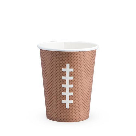 Football Paper Disposable Cups Set of 8