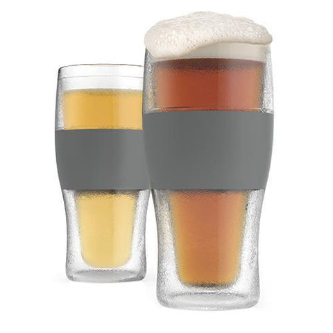 FREEZE  Cooling Pint Glasses Set of 2