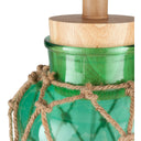 Amalfi Nautical Glass Burlap Table Lamp-SURYA-Mint-Peccadilly