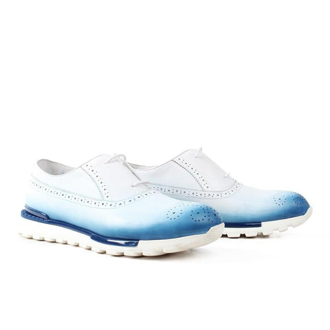 Genuine Leather Custom Brogue Style Casual Shoes