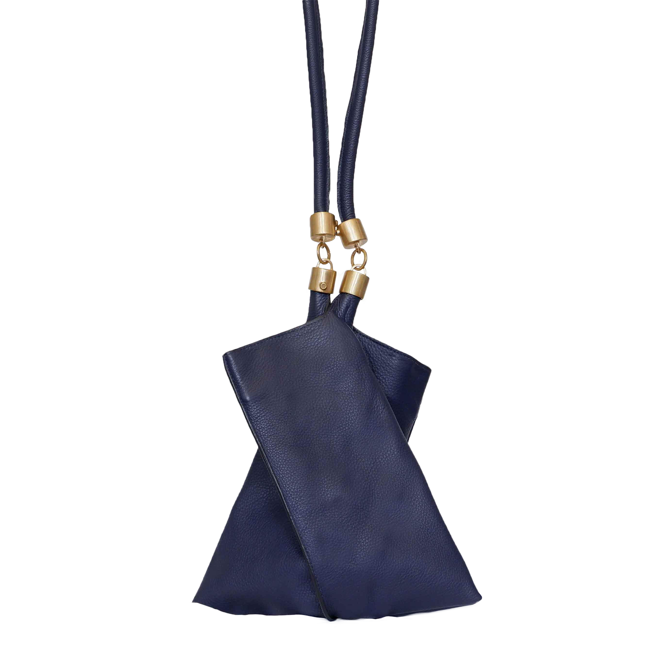 Genuine Leather Origami Tote Bag in Navy Blue-Women - Accessories - Handbags + Totes-ALLISON MITCHELL-Peccadilly