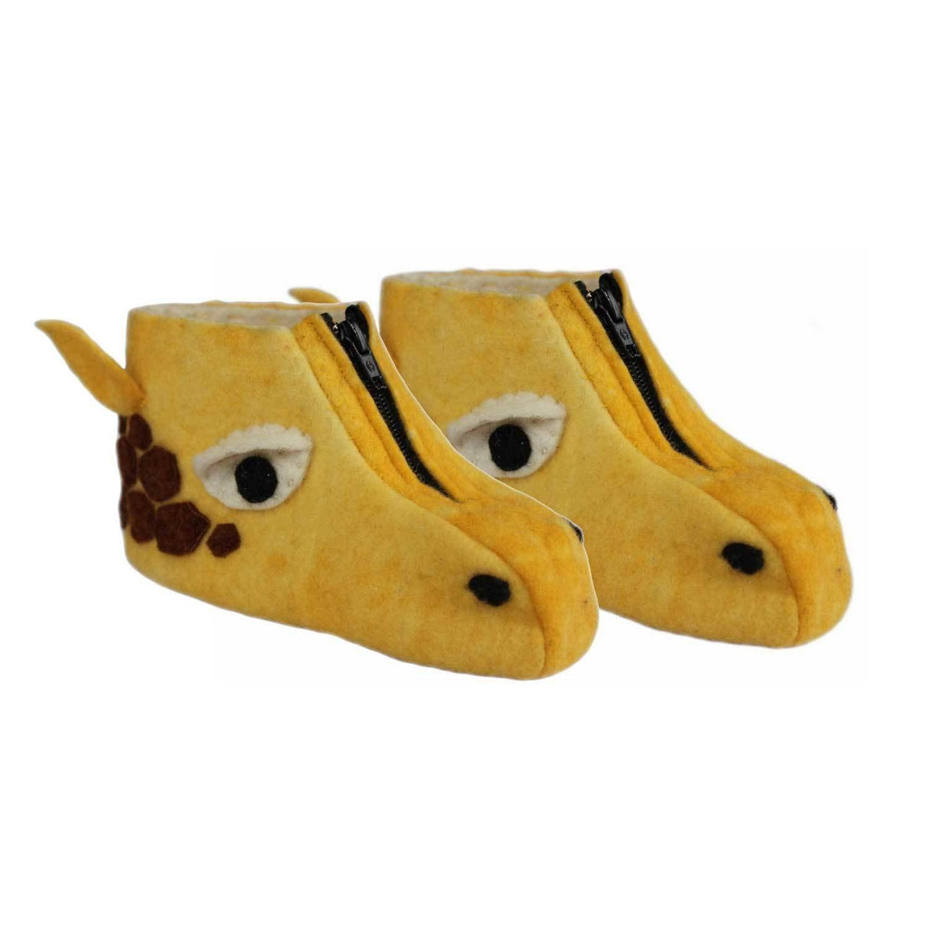 Giraffe Kid Zooties Age 4-5-Kids - Apparel - Slippers-SILK ROAD BAZAAR FAIR TRADE-Peccadilly