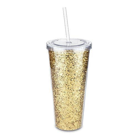 Glam Double Walled Glitter Tumbler