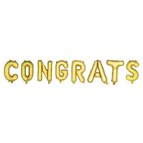 Gold CONGRATS Mylar Balloon
