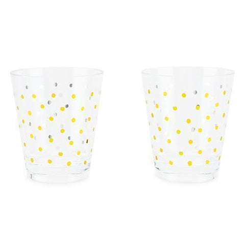 Gold Dots Acrylic Cups (Set of 2)