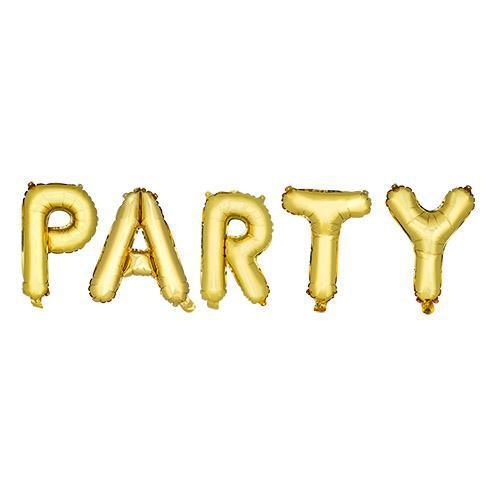 Gold PARTY Mylar Balloon-Home - Party Supplies - Party Balloons-CAKEWALK-Peccadilly