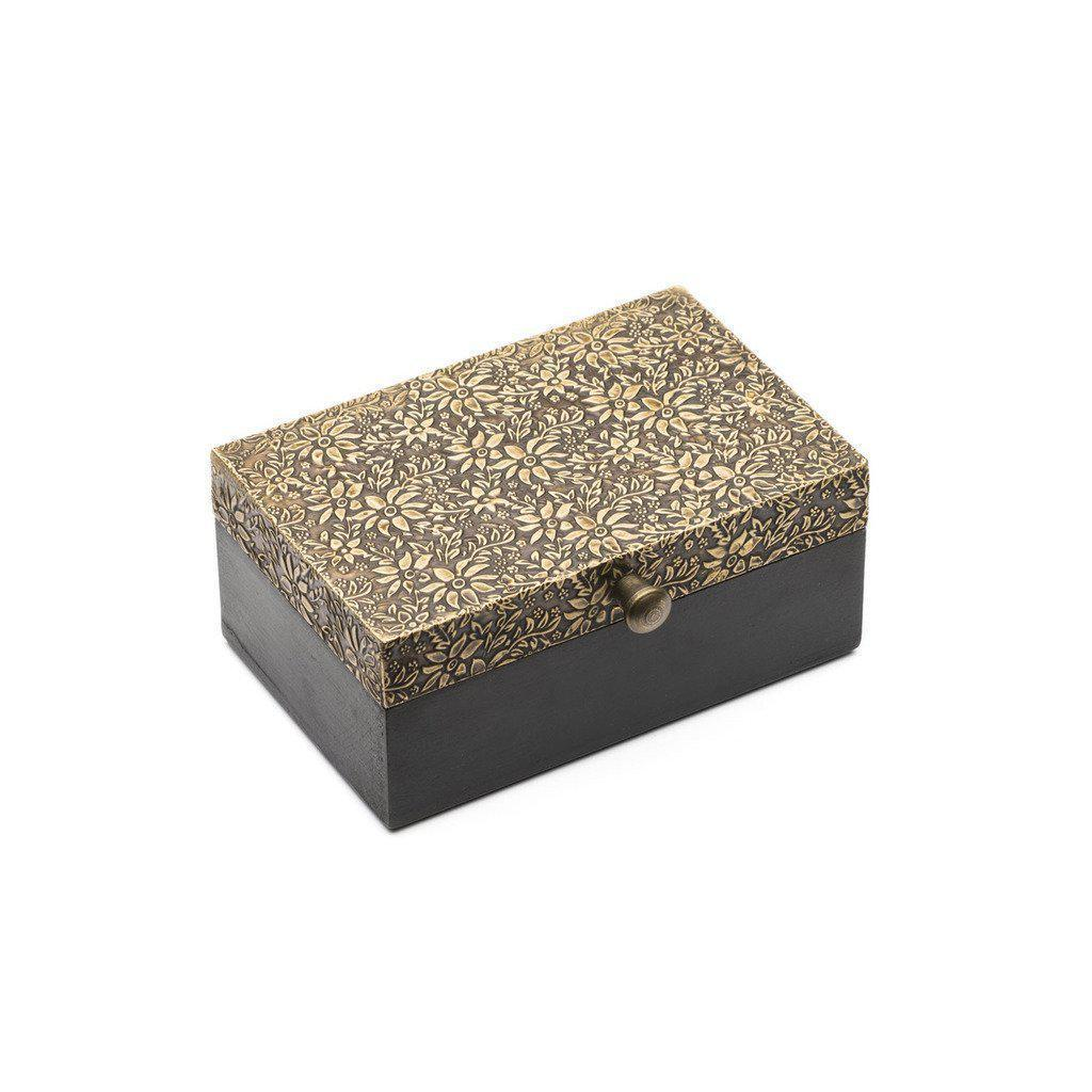 Golden Treasure Box-Home - Decor - Decorative Boxes-MATR BOOMIE FAIR TRADE-Peccadilly