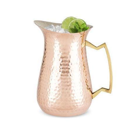 Hammered Copper Beverage Pitcher-Home - Entertaining - Pitchers-TWINE-Peccadilly