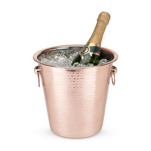 Hammered Copper Ice Bucket-Home - Entertaining - Ice Buckets-TWINE-Peccadilly