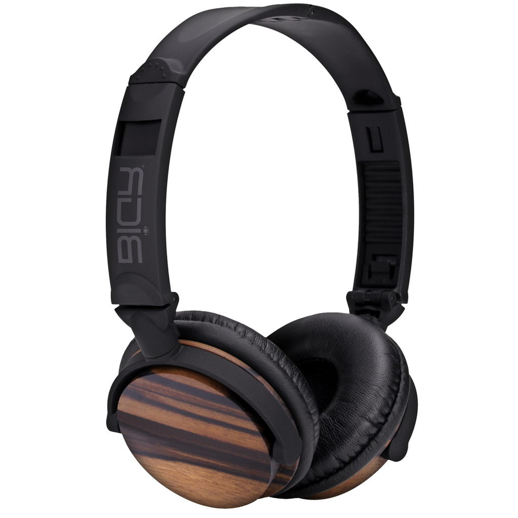 Handcrafted Sustainable Statement Headphones in Natural Rosewood-Home - Audio - Speakers + Headphones-BIGR AUDIO-Peccadilly