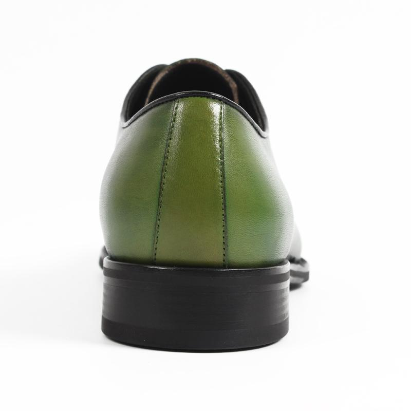 Handmade Designer Oxford Shoes in Green Genuine Leather-Men - Shoes - Oxfords-VIKEDUO-green-EU38/US6-Peccadilly