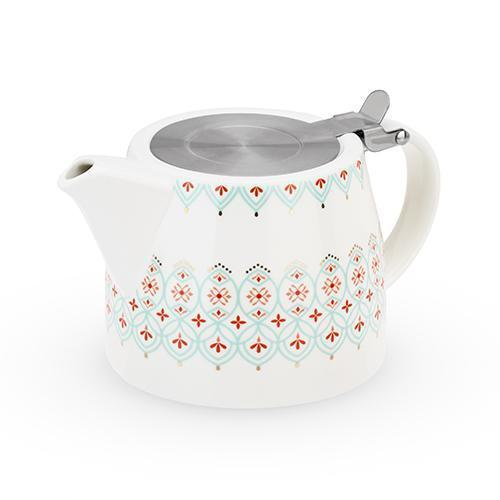 Harper Ceramic Teapot & Infuser-Home - Coffee + Tea - Teapot + Infusers-PINKY UP-Arabesque-Peccadilly