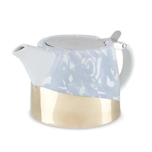 Harper Ceramic Teapot & Infuser-Home - Coffee + Tea - Teapot + Infusers-PINKY UP-Blue Foral-Peccadilly