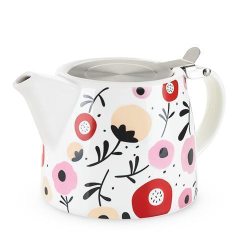 Harper Ceramic Teapot & Infuser-Home - Coffee + Tea - Teapot + Infusers-PINKY UP-Posy-Peccadilly