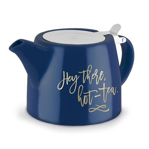 Harper Ceramic Teapot & Infuser-Home - Coffee + Tea - Teapot + Infusers-PINKY UP-Hey There, Hot-Tea-Peccadilly