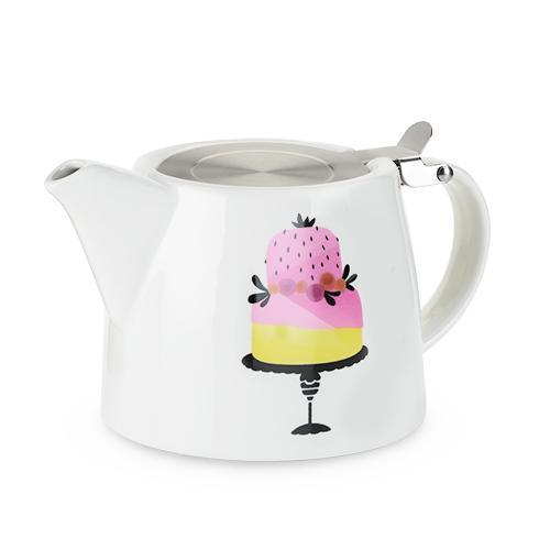 Harper Ceramic Teapot & Infuser-Home - Coffee + Tea - Teapot + Infusers-PINKY UP-Piece of Cake-Peccadilly